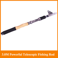 Free Shipping 3.0M Superhard carbon Spinning Fishing Rod Powerful Hand Pole Telescopic Sea SURF rod Rocker Rod Hot sell