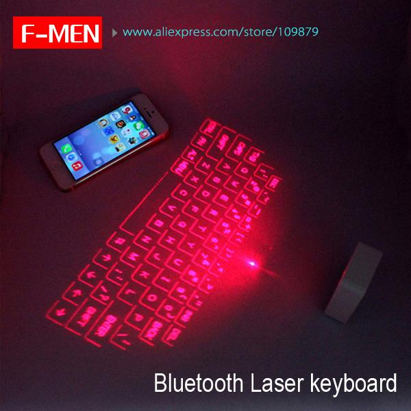 Full Size Virtual Wireless Bluetooth Laser Projection Keyboard English Ultra Portable Mini USB Infrared Keyboard(China (Mainland))