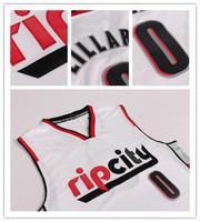 Rip City Portland #0 Damian Lillard aldridge White Rev 30 Jerseys Basketball Jersey Cheap Jersey Rip City S-XXL Free Shipping