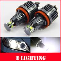 Free Shipping 40W 80W H8 CREE LED Angel Eye Halo Ring Light DRL for BMW 3 5 Series E90 E92 M3 E60 X5 X6 E82