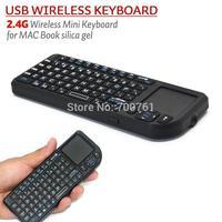 High Quality Mini  Habdheld 2.4G Wirlress Bluetooth QWERTY Keyboard For Mac Book Ipad Iphone PC PS3 Free Shipping