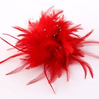 Fashion fashion handmade crystal embellishment feather big flower corsage banquet brooch