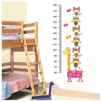Child real fashion diy wall stickers sticker animal height stickers