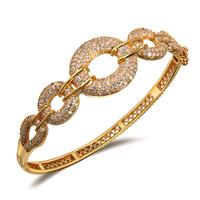 2014 18k gold bracelet bangles luxury women's styles wedding party birthday gift