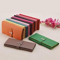 Seven Seas Sale Buckle Black Women Wallets Bag Green Solid Card Holder Casual Clutch Purses Pink Brand PU Genuine Leather Wallet