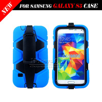 For Samsung GALAXY S5 i9600 Display Military Shock Proof Case Cover,For Samsung GALAXY S5 Silicon Stand Defender Skin Case 10PC