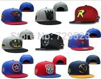 2014 New Arrival classic style Marvel Cartoon snapback caps ,superman batman spideman hats ymcmb cap ny hip hop brand name