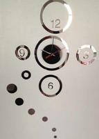 5sets/lot free shipping Big clock Home decoration wall clock DIY crystal mirror antique wall clocks children's wall art clock