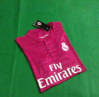 Free Shipping  2014 new women Real Madrid away soccer jerseys top football shirt