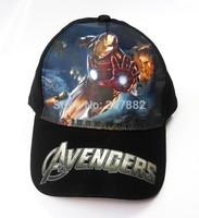 50pcs/Lot Free Shipping !2014 Fashion The Avengers Sport Hat  Cartoon Children Sun Hat Summer Beret Cap for Boy A3311  Wholesale