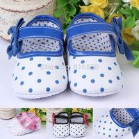 Baby Girl Princess Shoes Toddler Non-slip Soft Shoes Candy Color Dot Girls Shoes Toddler Shoes Chldren Frist Walker 0300