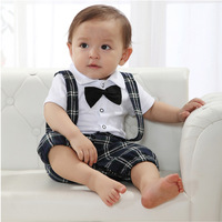 Baby Boy Wedding Bow-tie Occasion Christening Tuxedo Suit Outfit + Vest Age 0-3Y Free shipping & Drop shipping