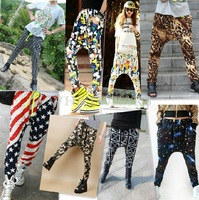 Free Shipping Womens Casual Elastic Waist Hip-hop Harem Pants Trousers 14 Colors 2.5 70-5251