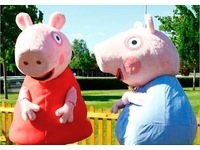 2014 Hot Sale NEW Peppa Pig And gorge Pig cartoon Mascot Costume Fancy Party Dress Cartoon Costume Free Shipping