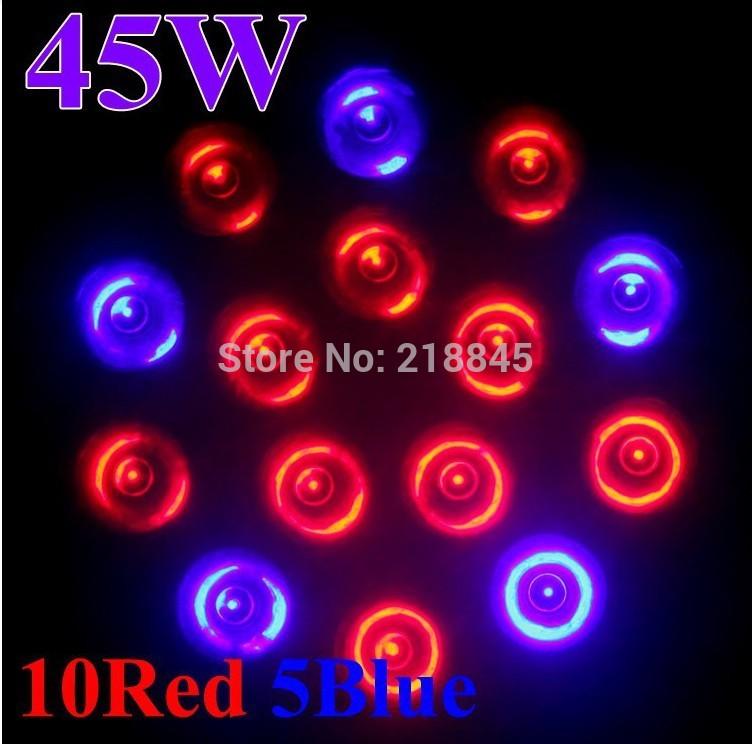 5x 45W 10red 5blue growing light for the vegetables Hyrdofram Jumpstart Grow System supplemental lighting Full Spectrum Bulbs(China (Mainland))