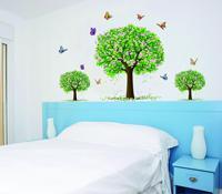 High quality green tree wall stickers 60cm*90cm