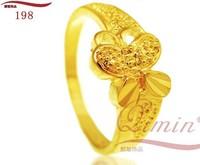 2014 New Arrival 24K Romantic butterfly female Ring