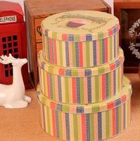 3pcs/lot Jumbo Size Blackforest Design Metal Cookie Jar Creative Tin Storage Box Candy Can L size T1041