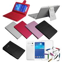 "Wireless Bluetooth Keyboard Case Cover For Samsung Galaxy Tab 3 Lite 7.0 7"" SM-T110 T111& Film & Stylus"