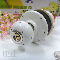 Ceramic lock the door when indoor European ball lock hold hand lock copper core  S-008