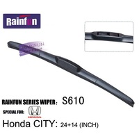 Soft  Natural Rubber Car Boneless windshield wiper blades special for HONDA CITY 1pair
