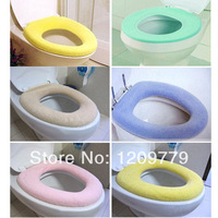 P  Bathroom Warmer Toilet Closestool Washable Soft Seat Cover Pads IA265 W