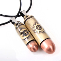 Short bullet 5009 pendant necklace couple alloy pendant moon and stars Valentine's Day gift jewelry wholesale