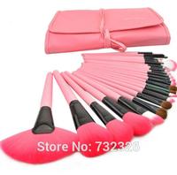 Free Shipping Professional 24pcs Makeup Brush Set Kit Makeup Brushes & Tools Make up Brushes Set Case