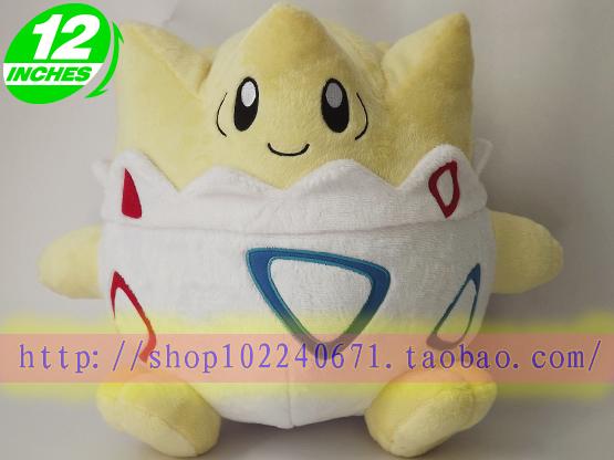 Livraison gratuite, anime japon pokemon togepi en peluche poupée 30cm