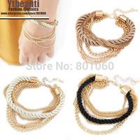 [Mix 15USD] 3colors choose New weave Braid Rope Chain Bracelet men jewelry