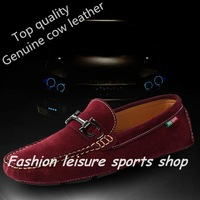 2014 new best quality Genuine Leather man's casual shoes Soft Loafers , men Sneakers Comfortable Driving Shoes Free shipping!