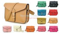 Hot Women Candy color Crossbody Satchel Shoulder PU leather Messenger Handbag