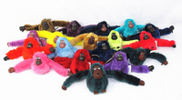 Cute Animal Monkey Pendant Key Chain Plush Toy for Kip bag Purse Handbags Bags Accessories Adult Kids Toys Wholesale