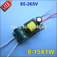30pcs/ot, 8-15X1W led inside lamp E27GU10 E14 B22 driver, power led 9W 10W 12W 15W lamp transformer driver power supply 85-265V
