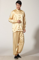Hot Selling New Chinese Men's Satin Polyester Jacket Trousers Kung Fu Suit Sz: S M L XL 2XL