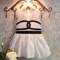 2T-8T new 2014 kid & girl summer dress girls european dress children party baby girl's sleeveless Yarn Chiffon formal dresses