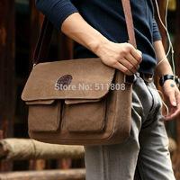 Hot Sale 2014 New Korean Retro Vintage Men Messenger Bags Casual Male Students School Satchel Shoulder Bags F35
