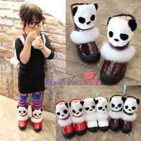 2014 new children's winter snow boots shoes boots Girls Panda  Foot long 15 ~ 22cm