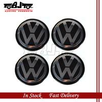 BJ-SCS-VW01 High Quality 55mm 4pcs Wheel Center Sticker Aluminum VW Badge