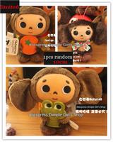 1pcs LIMITED NEW 2014 RANDOM 10cm Russia Souvenir Russian Yebypawka Cheburashka Plush Pendant Baby Toy For Kids Birthday Gift