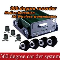 2014 Hottest 4 cameras full view car dvr system car recorder multi function car black box- Model X3000H