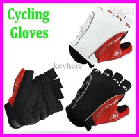 5 pairs/lot Fashion motorcycle Cycling Fingerleness Gloves,Castelli Rosso Corsa Bike Cycling Short Glove Mitts Silicone/gel