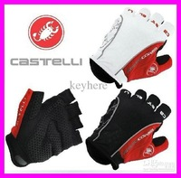 In Sale! 20pairs 2014 NEW Castelli bicycle Gloves/gel on palm fingerness,free running bike Half finger glove,XL/L/M