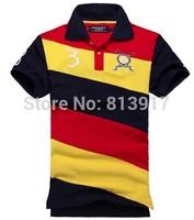 2014 new spell color leisure fashion men's brand T-shirt, 100% cotton. Size: S M L XL XXL