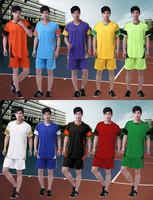 NEW ! Hot! wholesale many colors fashion design men's football suit soccer sports wear set / T shirt+short/ training wear