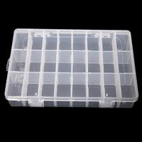 Promotion Wholesale Organizer Storage Beads Box Case Craft 24 Slot Plastic Jewelry Adjustable Tool Bins Free Shipping # L01589c