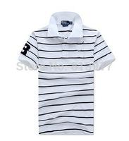 2014 New! Men stripe brand T-shirt, 100% cotton. Size: S M L XL XXL