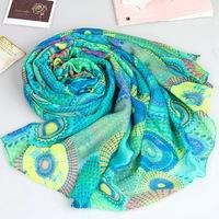 sunscreen miracle circle cape women's long silk viscose viskose scarf elegant scarf muffler scarf