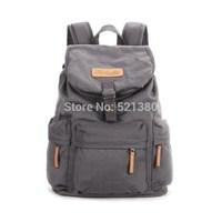 Backpacker Canvas Vintage Casual SLR DSLR Digital Camera Shoulder Organizer Bag Backpack Rucksack Daypack - Charcoal