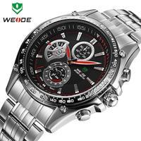 Watches men luxury brand original WEIDE fashion sports watches quartz alarm LED diving 30 meters water resistant watch